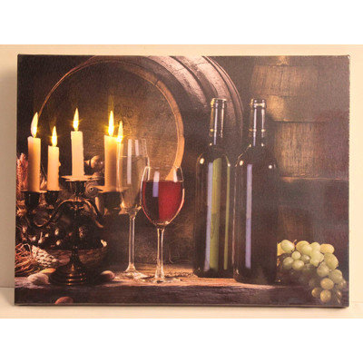 Winston Porter 'Flickering Candles and Wine' Photographic Print on Canvas