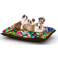 East Urban Home Frederic Levy-Hadida 'Chevrons' Dog Pillow with Fleece Cozy Top