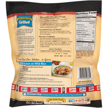John Soules Foods® Grilled Chicken Breast Strips 16 oz. Bag
