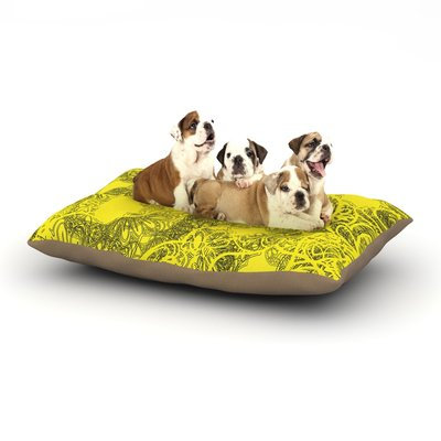 East Urban Home Patternmuse 'Mandala Lemon' Dog Pillow with Fleece Cozy Top Size: Large (50