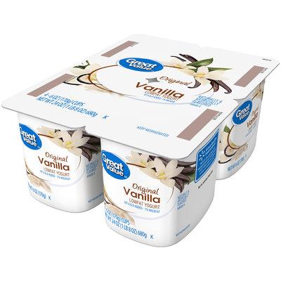 Great Value™ Original Vanilla Lowfat Yogurt 4-6 oz. Cups