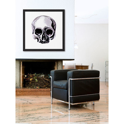 Marmont Hill Inc Marmont Hill - 'Watercolor Skull' by Molly Rosner Framed Painting Print