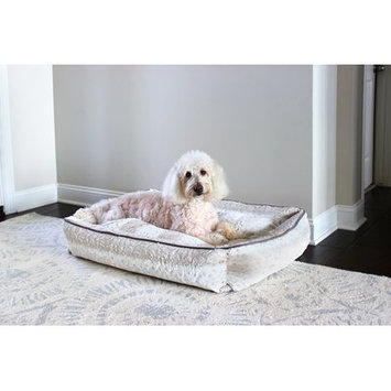 Pupiq Luxe Pup Lynx Lounger Bolster Size: Large