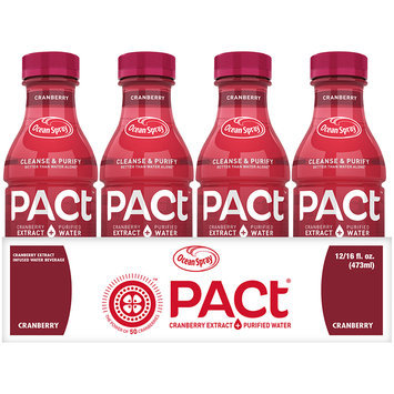 Ocean Spray Pact® Cranberry Extract Infused Water Beverage 12-16 fl. oz. Bottles