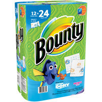Bounty Select-A-Size Paper Towels, Finding Dory Print, 12 Double Rolls = 24 Regular Rolls