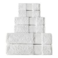 Rokahome 6 Piece Bath Towel Set Color: White