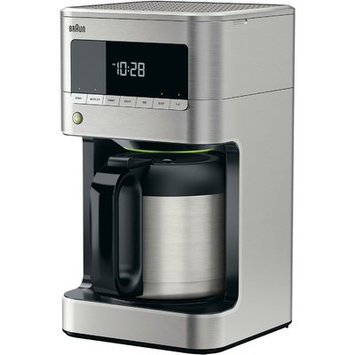 Braun BrewSense 10-Cup Drip Coffee Maker With Thermal Carafe, Stainless Steel
