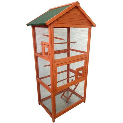 Lovupet Wood Bird Cage Color: Orange