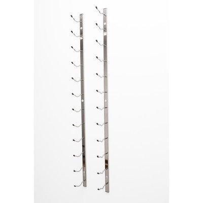 Vintageview Wall Series 18 Bottle Wall Mounted Wine Bottle Rack Finish: Black Chrome