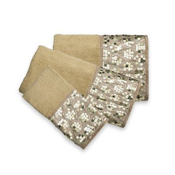 Sweet Home Collection Sinatra Bath 3 Piece Towel Set Color: Champagne