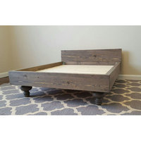 Peacelovewood My Best Friend's Custom Solid Wood Pet Bed Size: Large (47 L x 35 W), Color: Red Mahogany
