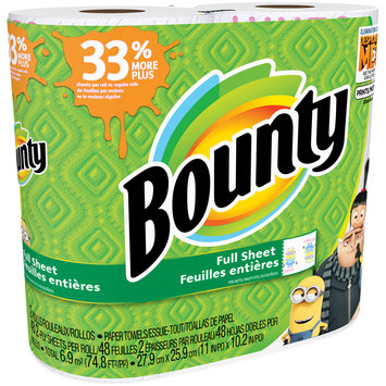 Bounty Full sheet Paper Towels 2 ct Pack