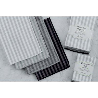 Beachcrest Home Stripe 4 Piece Ripple Microfiber Dishtowel