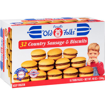 Purnell's Old Folks® 16 Twin Packs Country Sausage & Biscuits 32 ct Box