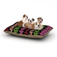 East Urban Home Jane Smith 'Garden Vine and Leaf' Vines Dog Pillow with Fleece Cozy Top Size: Large (50