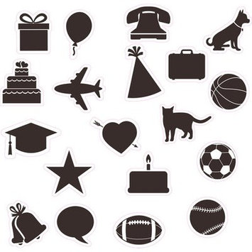 Wallies Wallcoverings WalliesWallcoverings 16086 4 x 9 in. 3 Sheets Chalkboard Calendar Stickers Black