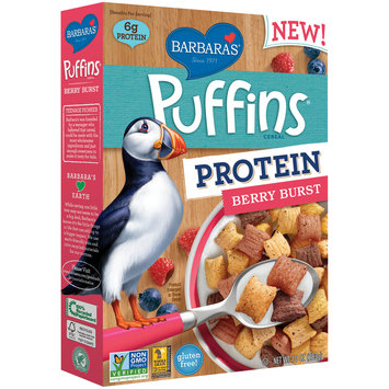 Barbara's® Puffins® Protein Berry Burst Cereal 10 oz. Box