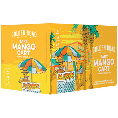 Golden Road Brewing Tart Mango Cart Mango Wheat Ale 6-12 fl. oz. Cans