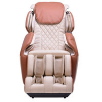 Latitude Run Steel Frame Chair with Footrest Massage Chair Upholstery: Ivory