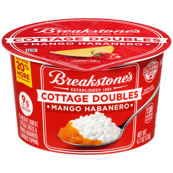 Breakstone's Cottage Doubles Cottage Cheese & Mango Habanero Topping 4.7 oz. Tub