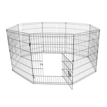 Aleko Exercise Cage Fence 8 Panel Pet Pen Size: 24