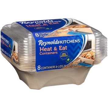 Reynolds Kitchens™ Heat & Eat 24 oz. Containers 8 ct Pack