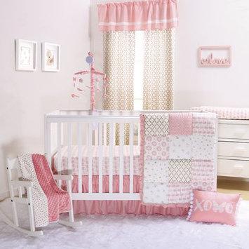 The Peanut Shell Sweet Swan 4 Piece Crib Bedding Set