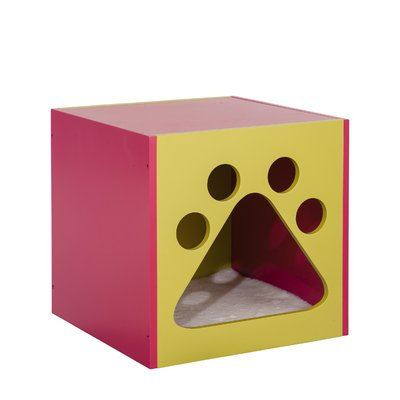 Ethan Pets Shadow Cat House Color: Mellow Green/Fuchsia