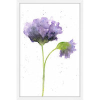 Marmont Hill Inc Marmont Hill - 'Purple Poppy' by Thimble Sparrow Framed Painting Print