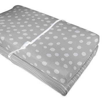 Harriet Bee Kelsea Knit Changing 2 Piece Pad Cover Color: Black/White