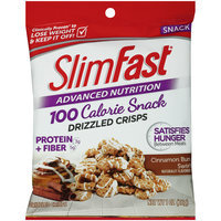 SlimFast® Advanced Nutrition 100 Calorie Cinnamon Bun Swirl Drizzled Crisps 1 oz. Bag