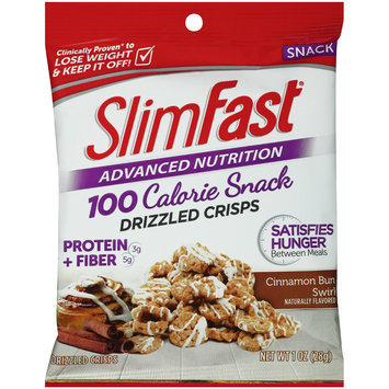SlimFast® Advanced Nutrition 100 Calorie Cinnamon Bun Swirl Drizzled Crisps 1 oz. Bag