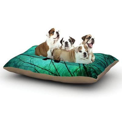 East Urban Home Robin Dickinson 'Smitten' Dog Pillow with Fleece Cozy Top Size: Large (50