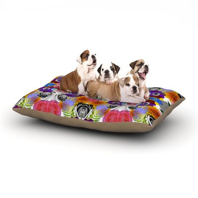 East Urban Home Vasare Nar 'Tropical Flowers' Dog Pillow with Fleece Cozy Top Size: Large (50