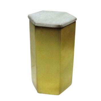 Bidkhome Hexagon Designer Candle Size: Large