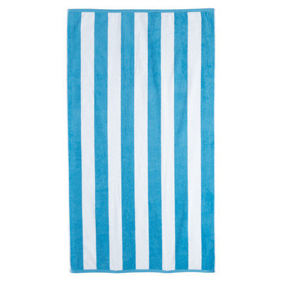 Brayden Studio Cotton Stripe Beach Towel Color: Aqua