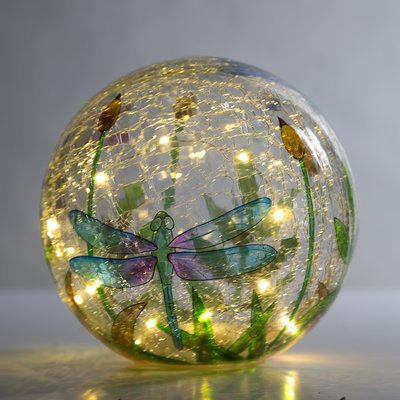 Wind & Weather Crackle-Glass Balls, Set of 3, 5, 6 and 8 dia.
