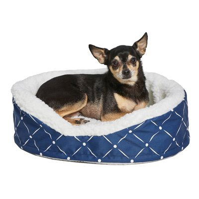 Midwest Homes For Pets Quiet Time Bolster Color: Blue, Size: 22.25