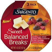 Sargento® Sweet Balanced Breaks® Monterey Jack Natural Cheese, Dried Cranberries & Dark Chocolate Covered Peanuts Snacks