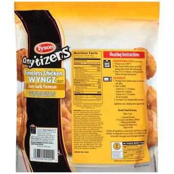 Tyson® Any'Tizers® Zesty Garlic Parmesan Boneless Chicken Wyngz 25.5 oz. Stand Up Bag