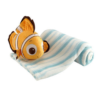 Crown Craft Disney Baby - Finding Nemo Plush with Baby Blanket Set
