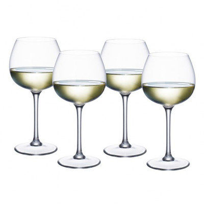Villeroy & Boch Purismo Soft+Rounded White Wine Goblets, S/4