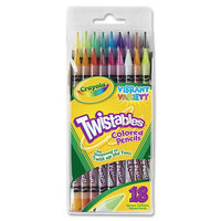 Crayola Twistables Colored Pencils,18 Assorted Colors/Pack