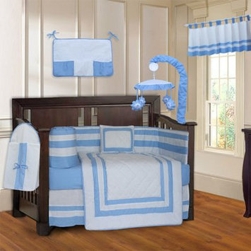 Zoomie Kids Andelain Modern Quilted 10 Piece Baby Crib Bedding Set Color: Blue