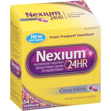 Nexium® 24-Hour Delayed-Release Heartburn Relief Clear Minis™ Capsules 14 ct Box