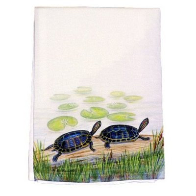 Betsy Drake Interiors Two Turtles Hand Towel
