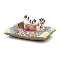 East Urban Home Famenxt 'Confetti Dots Mandala' Abstract Dog Pillow with Fleece Cozy Top Size: Large (50