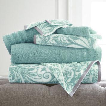 House Of Hampton Filigree Swirl 6 Piece Towel Set Color: Aqua