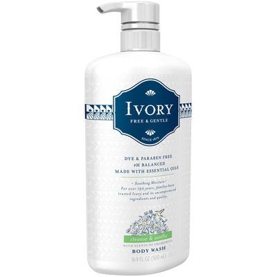 Ivory Free & Gentle Cleanse & Soothe Body Wash 16.9 fl. oz. Pump