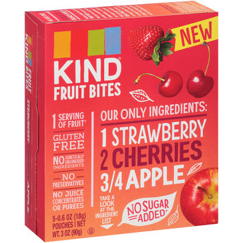 Kind® Strawberry Cherries Apple Fruit Bites 5-0.6 oz Pouches